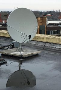 Rex Cinema, Wilmslow. New Satellite Dish